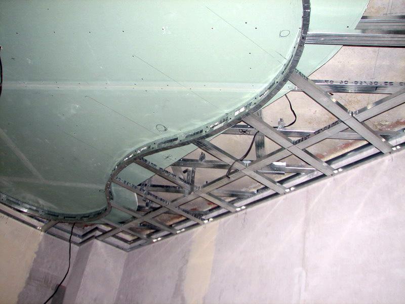 Изготовление подвесного потолка из гипсокартона своими руками