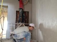 замывка стены после штукатурки
