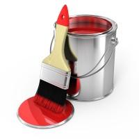 Покраска помещений различными малярными инструментами